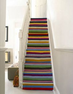 colourful stair runner