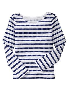 GAP POLKA DOT STRIPE LONG SLEEVED T - BLUE GALAXY