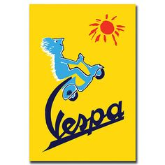 Vespa-Gallery Wrapped 24x32 Canvas Art