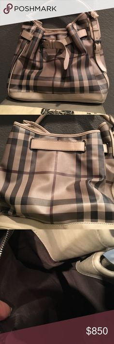 last price drop Amazing 100% authentic Burberry Excellent condition almost like brand new. . 100% authentic Burberry bag. Super Little sign of use on outside which I think is from rubbing on jeans and it's nothing u can see on the pics!smocked check hobo.comes with dust bag. This item can't use bundle discount. Burberry Bags
