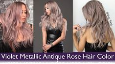 Violet Metallic Antique Rose Hair Color #MetallicObsession with @kenra