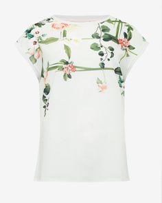 132be1cede1c61 Secret Trellis front T-shirt - Cream