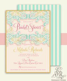 Baby Shower Invitations : Elegant Baby Shower Invitation Designs - Printable Invitations Bridal Shower Design