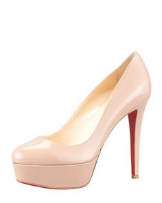Bianca+Almond-Toe+Platform+Red+Sole+Pump,+Nude+by+Christian+Louboutin+at+Neiman+Marcus.