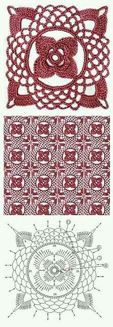 Transcendent Crochet a Solid Granny Square Ideas. Inconceivable Crochet a Solid Granny Square Ideas. Filet Crochet, Crochet Motifs, Crochet Blocks, Crochet Diagram, Crochet Chart, Crochet Squares, Thread Crochet, Crochet Doilies, Crochet Flowers