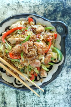 If you're short on time & big on hungry, look no further than this easy Keto Crispy Pork & Noodle Stir Fry recipe! Sweet, salty, crunchy, chewy, this low carb pork stir fry has it all, and is faster than ordering takeout! You can easily substitute chicken, shrimp or tofu! Egg free, Nut free, Dairy Free, Keto, LCHF