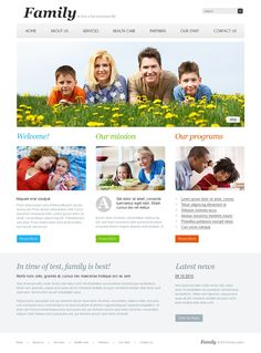 Family Center Website Templates by Di Web Design Software, Joomla Templates, Flyer Layout, Floral Illustrations, Design Bundles, Business Flyer, Website Template, Health Care, Life