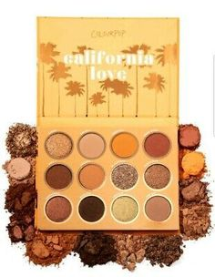 ColourPop California Love Summer gold and bronze eyeshadow makeup palette Makeup Dupes, Eyeshadow Makeup, Makeup Cosmetics, Beauty Dupes, Drugstore Beauty, Makeup Set, Makeup Hacks, Eyeliner, Golden Eyeshadow