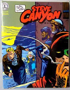 Milton CANIFF STEVE CANYON #4 Post World War 2 Korea & Cold War Jet Aviation Action Adventure Newspaper Comic Strip Reprints Kitchen Sink