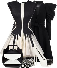 """Spring Trend - Black and White!"" by helenrosemay ❤ liked on Polyvore"
