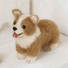 Japanese Hamanaka Needle Wool Felt Kit   Dog  Corgi by hallowinko, $7.99