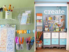 Art Studio: 16 Pegboard Organizing Tips | Vintage Page Designs