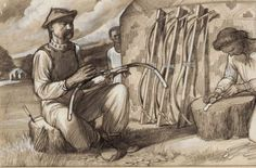 Bow-maker Gyula László, 50 drawings of the conquerors Móra, Budapest, page (detail). (The photo was taken from the original aquarelle. Bow Arrows, Archery, Vikings, Celtic, Mystery, Bows, Drawings, Illustration, Pictures