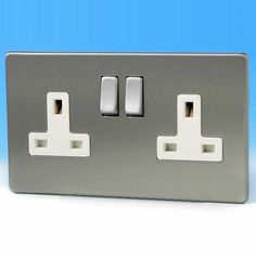 Varilight XP5B Classic Graphite 21 2 Gang Double 13 A Switched Plug Socket
