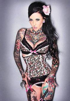 Hot Female Chest Tattoos 17