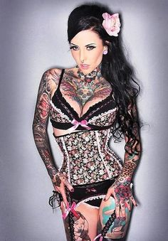 Hot Female Chest Tattoos 17