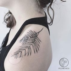 Palm leaf #tattoo by @poonkaros · @iristattooart Miami #littletattoos #life…