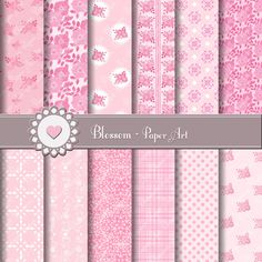 Baby Girls Digital Paper  Scrapbooking  by blossompaperart on Etsy, $3.50