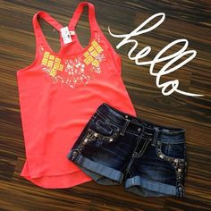 Tank and Miss Me Shorts