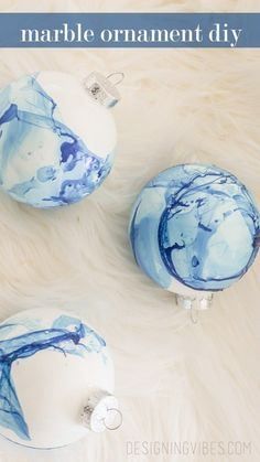 diy marble christmas ornament