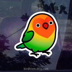 Chubby Fischer's Lovebird 3.5 Sticker Outdoor