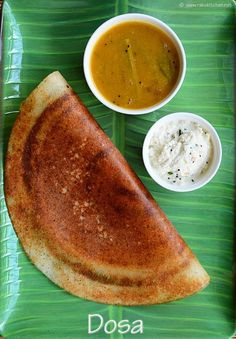 Dosa recipe, learn how to make dosa batter at home easily. Step by step photos and video to show how to spread dosai over tawa. South Indian Dosa Recipe, South Indian Food, Indian Food Recipes, Vegetarian Recipes, Cooking Recipes, Curry Recipes, Indian Snacks, South Indian Breakfast Recipes, Andhra Recipes
