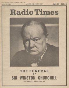 30th January 1965 Magazine Covers, Vintage Television, Tv Times, Vintage Tv, Bbc Radio, Winston Churchill, History Books, Historical Photos, Historia