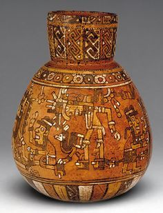 Jar with Ritual Scene, 15th century Mexico; Mixtec/Nayarit Ceramic MET