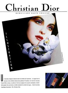 MODEL- SUSIE BICK  FOR DIOR COSMETICS PARIS   ADVERTISEMENT 1987 MAKEUP & PHOTOGRAPHED BY TYEN