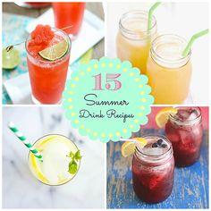 15 Refreshing Summer Drink Recipes! upcycledtreasures.com/2013/07/15-refreshing-summer-drink-recipes/ #summer #drink #recipes