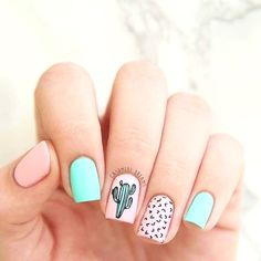 Are you looking for summer nails colors designs that are excellent for this summer? See our collection full of cute summer nails colors ideas and get inspired! Dark Nail Designs, Cute Nail Designs, Trendy Nail Art, Stylish Nails, Cool Nail Art, Blue Nail, Pink Nails, Pastel Nails, White Nails