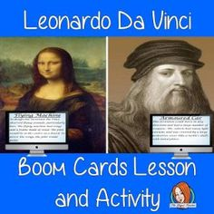 Leonardo Da Vinci Complete Lesson and Revision Questions  This lesson teaches children about Leonardo Da Vinci. There is a complete lesson split into sections with revision questions and exercises after each section to check children's understanding. All About Me Crafts, Role Play Areas, Primary School, Teacher Resources, Teaching Kids, Social Studies, Lesson Plans, This Or That Questions, Digital