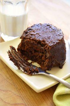 Chocolate PB mug cake 3
