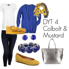 Dress Your Truth Type 4 Colbolt & Mustard by kljs621 on Polyvore featuring polyvore, fashion, style, Mossimo, Topshop, Old Navy, Henri Bendel, Nine West, Sole Society and Forever 21