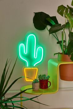 Potted Cactus Neon Sign | Urban Outfitters