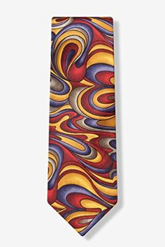 Gold Silk Tie | Fluid Paints Necktie  http://www.yourneckties.com/gold-silk-tie-fluid-paints-necktie-2/