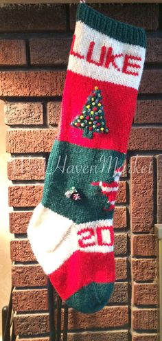 Vintage Knitted Christmas Stocking Patterns
