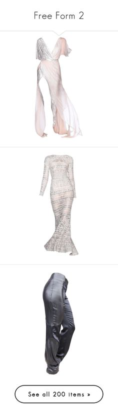 """""""Free Form 2"""" by kennedysstyleblog ❤ liked on Polyvore featuring dresses, gowns, gown, edit, pants, grey, tops, the dresses, norma kamali and coats"""
