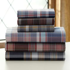 Cascade Plaid Sheet Set | PBteen