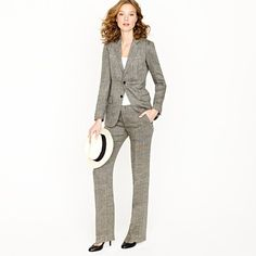 this entire outfit would be nice, thanks    Women's Ludlow jacket in herringbone linen    $350