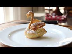 Food Wishes Video Recipes: Chocolate Cream Puff Swans – Oh, Mama! Köstliche Desserts, Delicious Desserts, Dessert Recipes, Frosting Recipes, Cream Puff Swans Recipe, Krantz Cake, Chocolate Cream, Chocolate Ganache, Birthday Cakes