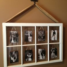 Decorating+Ideas+With+Old+Windows | My friend made this. Amazing! Old window pane ... | Decorating ideas