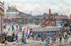 The execution of Robespierre and his supporters, Bibliothèque Nationale de France, 1794