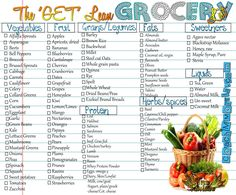 "the ""Get Lean"" Grocery List"