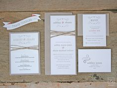 Rustic Twine Wedding Invitation Set Sample by TigerLilyInvitations, $3.00