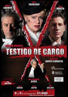 "Próximos 8 y 9 de noviembre a las 21,00 horas ""Testigo de Cargo"" de Agatha Christie"
