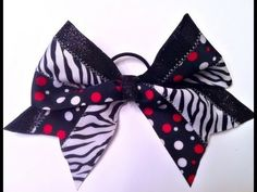 How To Make a Big Cheer Bow - will use fabric glue instead of sewing machine