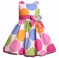 New Girls Bonnie Jean Polka Dot Birthday Dress 2T 2 NWT