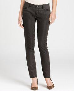 Tall Modern Denim Zipper Pants