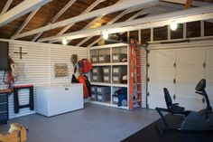 This space was transformed from being a dark storage dumping ground, to a multi-use, super organized + functional dream space.